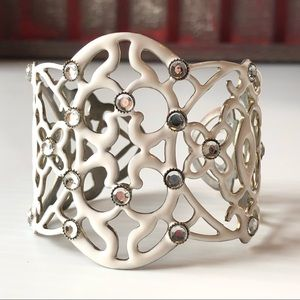 **FREE w/$25 purchase** White Cuff Bracelet